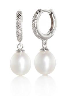 Belk & Co. Freshwater Pearl Earrings in Cubic Zirconia