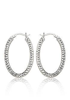 Belk & Co. Caged Hoop Earrings in Sterling Silver