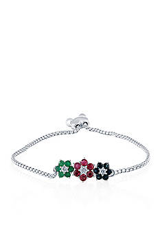 Belk & Co. Multi Stone Bracelet in Sterling Silver