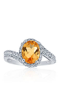 Belk & Co. Citrine & White Topaz Ring in Sterling Silver