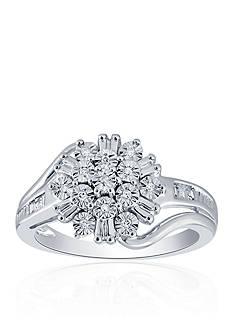 Belk & Co. 0.10 ct. t.w. Diamond Cluster Ring in Sterling Silver