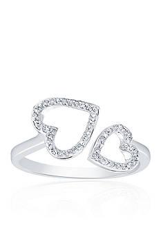 Belk & Co. 0.10 c.t. t.w. Diamond Heart Ring in Sterling Silver