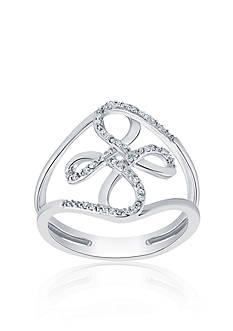 Belk & Co. 0.10 ct. t.w. Diamond Flower Ring in Sterling Silver