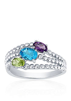Belk & Co. Multi Stone Ring in Sterling Silver