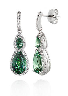 Belk & Co. Cubic Zirconia Earrings in Sterling Silver
