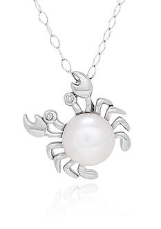 Belk & Co. Freshwater Peal Crab Pendant in Sterling Silver