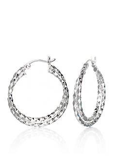 Belk & Co. Double Twist Hoop Earrings in Sterling Silver