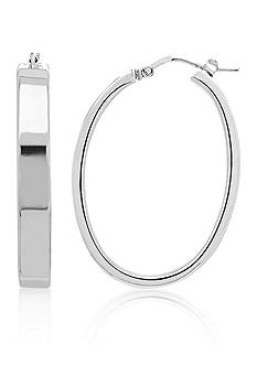 Belk & Co. Sterling Silver Oval Hoop Earrings