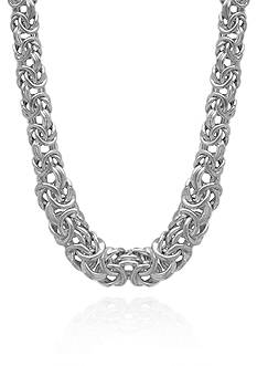 Belk & Co. Sterling Silver Byzantine Links Necklace