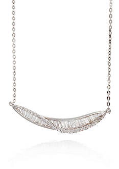 Belk & Co. Cubic Zirconium Necklace in Sterling Silver