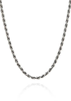 Belk & Co. Sterling Silver Adjustable Rope Necklace