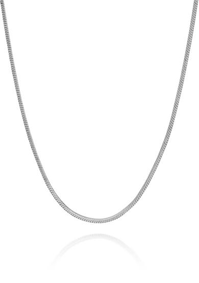 Belk & Co. Sterling Silver 8 Sided Snake Chain Necklace