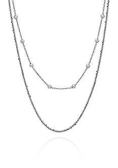 Belk & Co. Sterling Silver Layered Bead Necklace