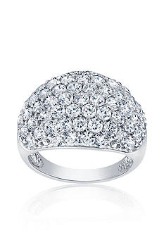 Belk & Co. Cubic Zirconia Dome Band Ring in Sterling Silver