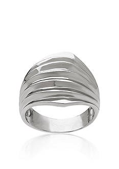 Belk & Co. Sterling Silver Dome Ribbed Ring