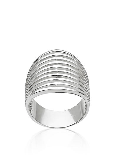 Belk & Co. Sterling Silver Wide Ribbed Ring