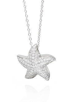 Belk & Co. Cubic Zirconia Starfish Pendant Necklace in Sterling Silver