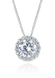 Belk & Co. Cubic Zirconium Necklace in Sterling Silver
