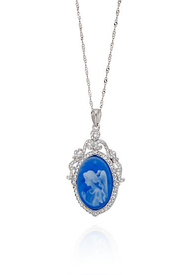 Belk & Co. Crystal Angel Pendant in Sterling Silver