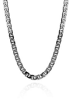 Belk & Co. Swirl Link Necklace in Stainless Steel