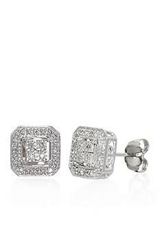 Belk & Co. .112 ct. t.w. Diamond Earrings in Sterling Silver