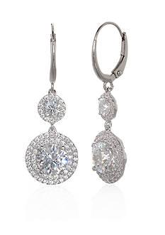 Belk & Co. Cubic Zirconia Drop Earrings in Sterling Silver