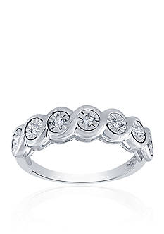 Belk & Co. 0.10 ct. t.w. Diamond Bezel Ring in Sterling SIlver