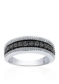 Belk & Co. .052 ct. t.w. Black Diamond Ring in Sterling Silver