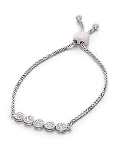Belk & Co. 0.105 ct. t.w. Diamond Bolo Bracelet in Sterling Silver