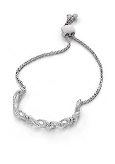 Belk & Co. 0.17 ct. t.w. Diamond Bolo Bracelet in Sterling Silver