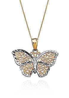 Belk & Co. Butterfly Pendant in 10K Yellow Gold