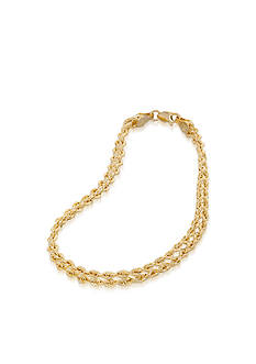 Belk & Co. 10k Yellow Gold Multi-Strand Bracelet