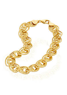 Belk & Co. Charm Link Bracelet in 10k Yellow Gold