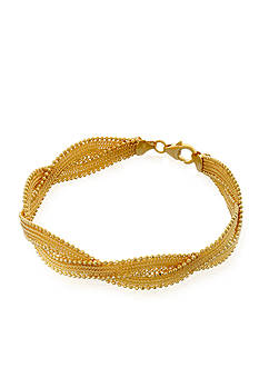 Belk & Co. Braid Bracelet in 10k Yellow Gold