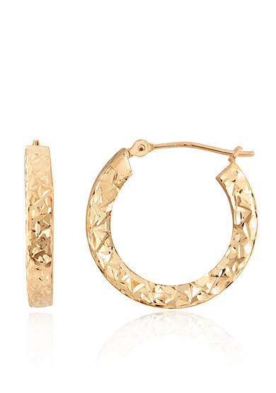 Belk & Co. Hoop Earrings in 10K Yellow Gold