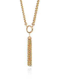 Belk & Co. 10K Yellow Gold Statement Necklace