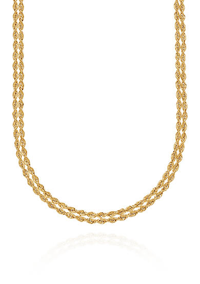 Belk & Co. Two Row Rope Necklace in 10K Yellow Gold
