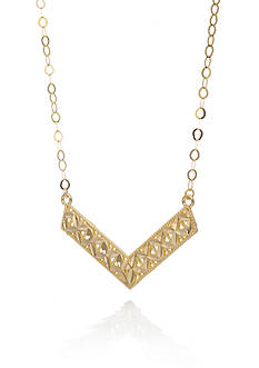 Belk & Co. 10K Yellow Gold Chevron Necklace