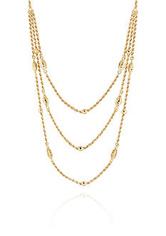 Belk & Co. Layered Necklace in 10k Yellow Gold