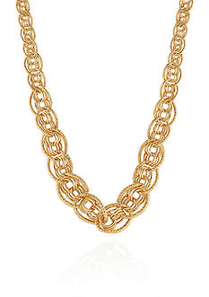 Belk & Co. Polished Statement Necklace in 10K Yellow Gold