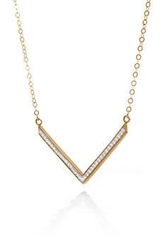 Belk & Co. 10K Yellow Gold V Bar Necklace