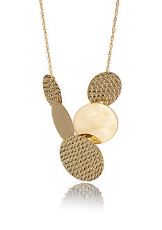 Belk & Co. 10K Yellow Gold Round Disk Necklace