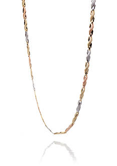 Belk & Co. Tricolor 10k Yellow Gold, Rose Gold, White Gold X Design Necklace