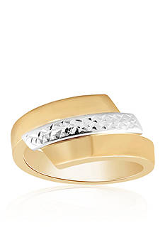 Belk & Co. Bypass Ring in 10k Two-Tone Gold