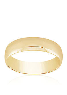 Belk & Co. Polished Com Fit Ring in 10k Yellow Gold