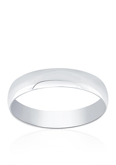 Belk & Co. Polished Band Ring in 10k White Gold