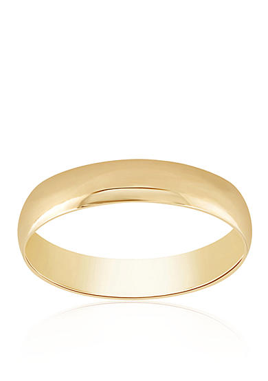 Belk & Co. Polished Band Ring in 10k Yellow Gold