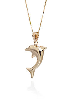 Belk & Co. Dolphin Pendant in 10K Yellow Gold
