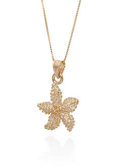 Belk & Co. Starfish Pendant in 10K Yellow Gold