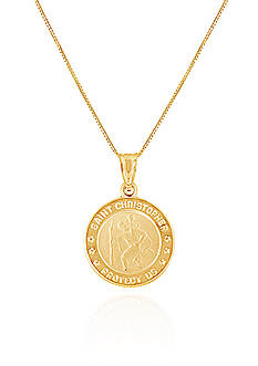 Belk & Co. 10k Yellow Gold Pendant Necklace